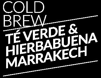 Cold Brew té verde y hierbabuena Marrakech