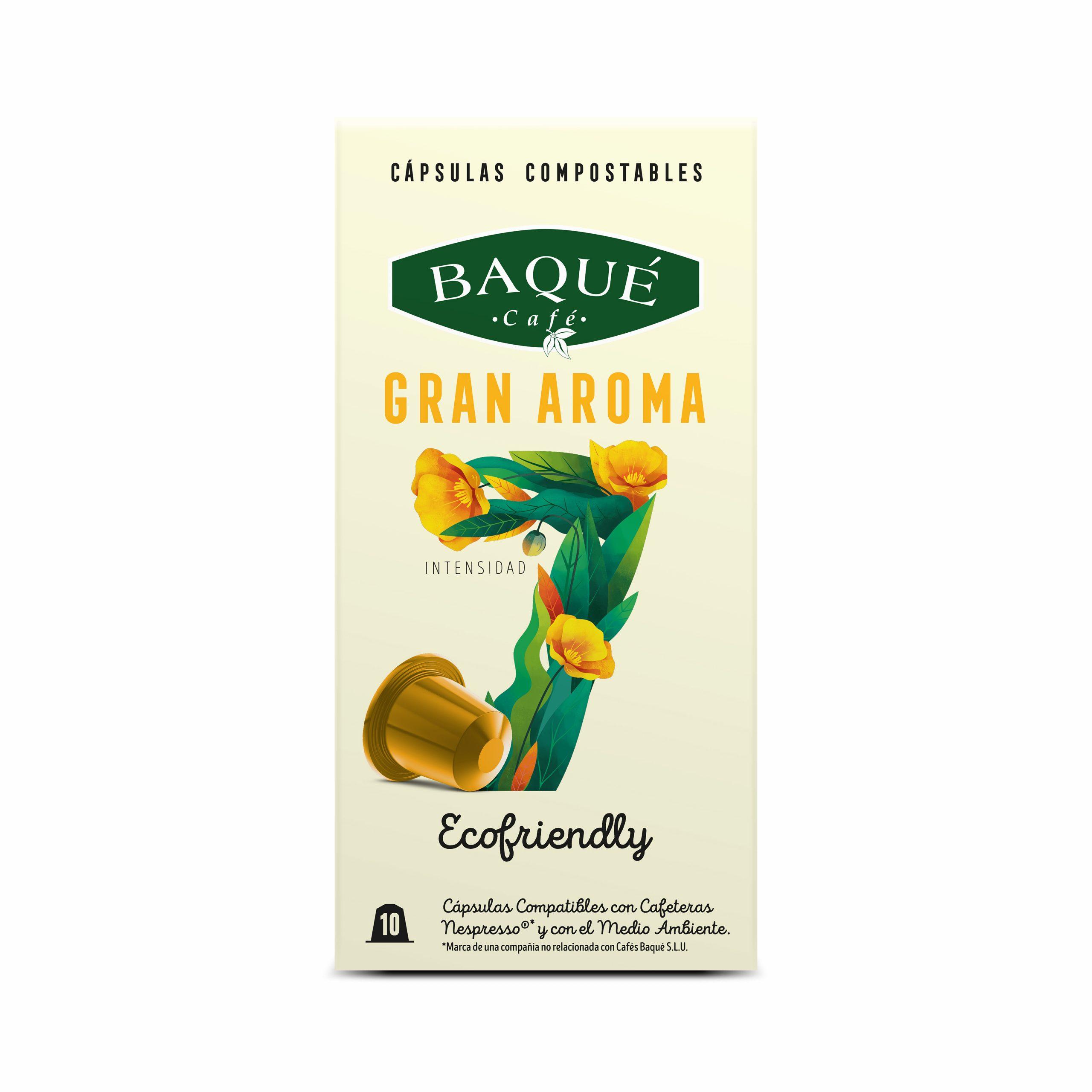 Gran Aroma 10 cápsulas Compostables compatibles Nespresso®