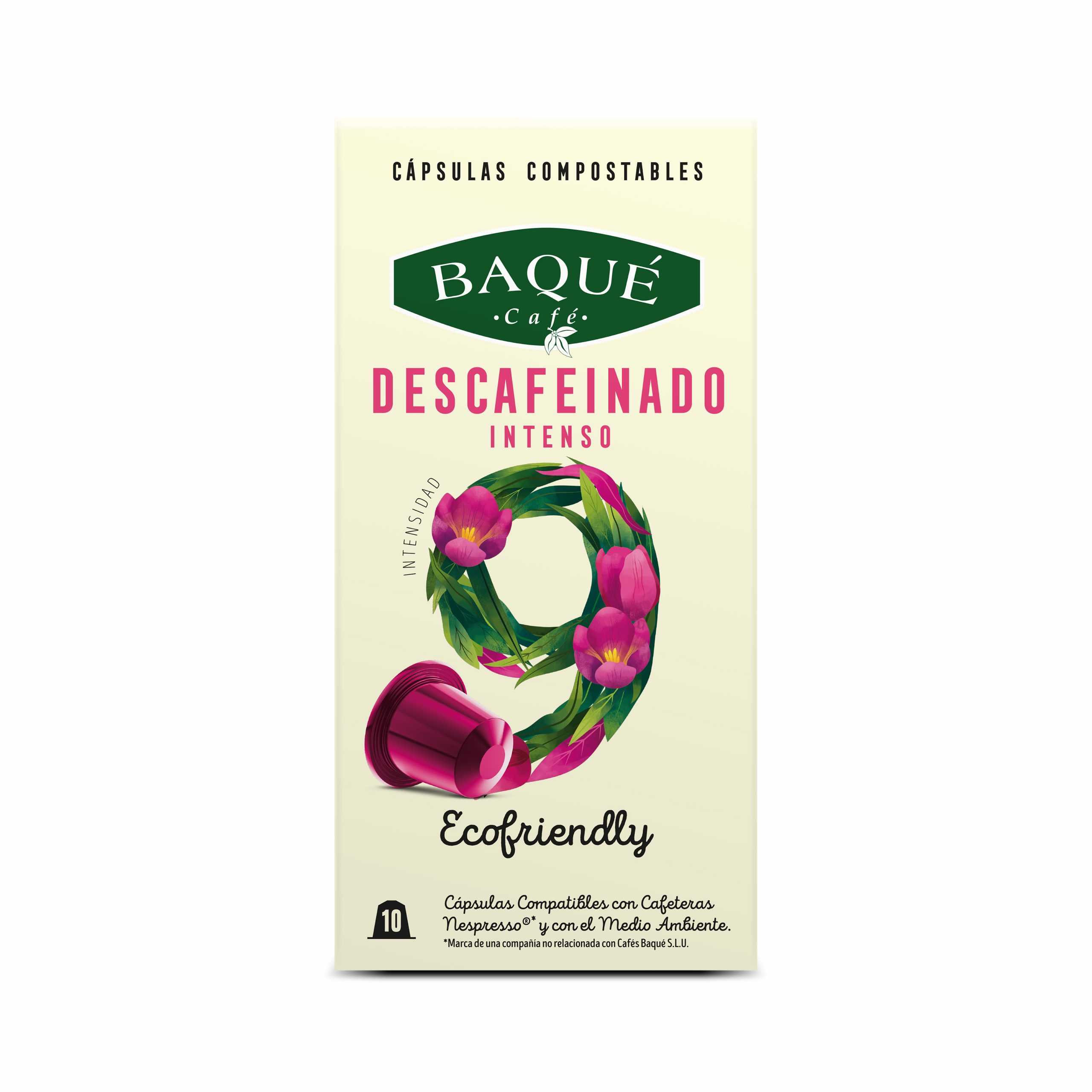 Descafeinado Intenso 10 cápsulas Compostables compatibles Nespresso®
