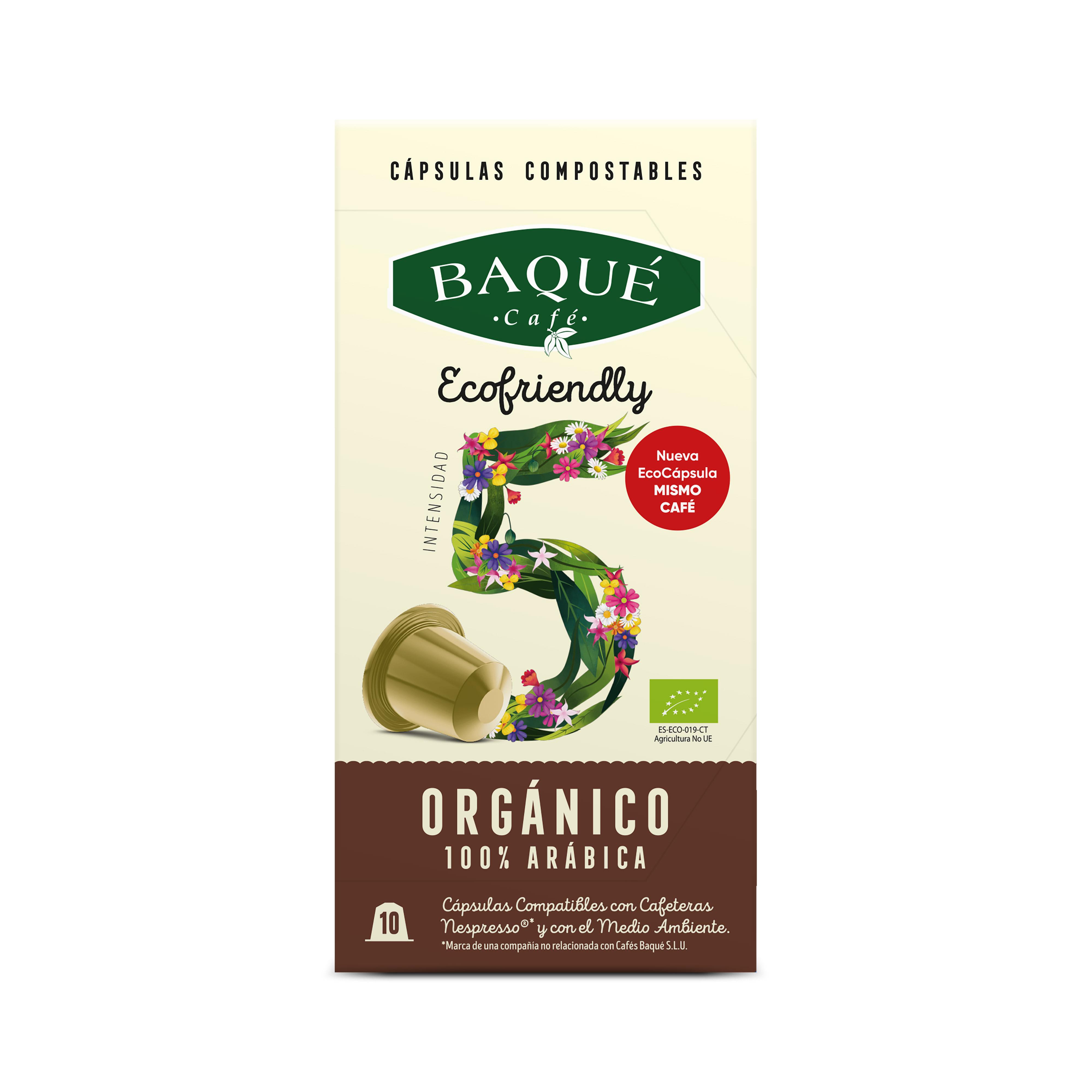 Organikoa %100 Arabikoa 10 kapsula konpostagarri bateragarriak Nespresso®-rekin