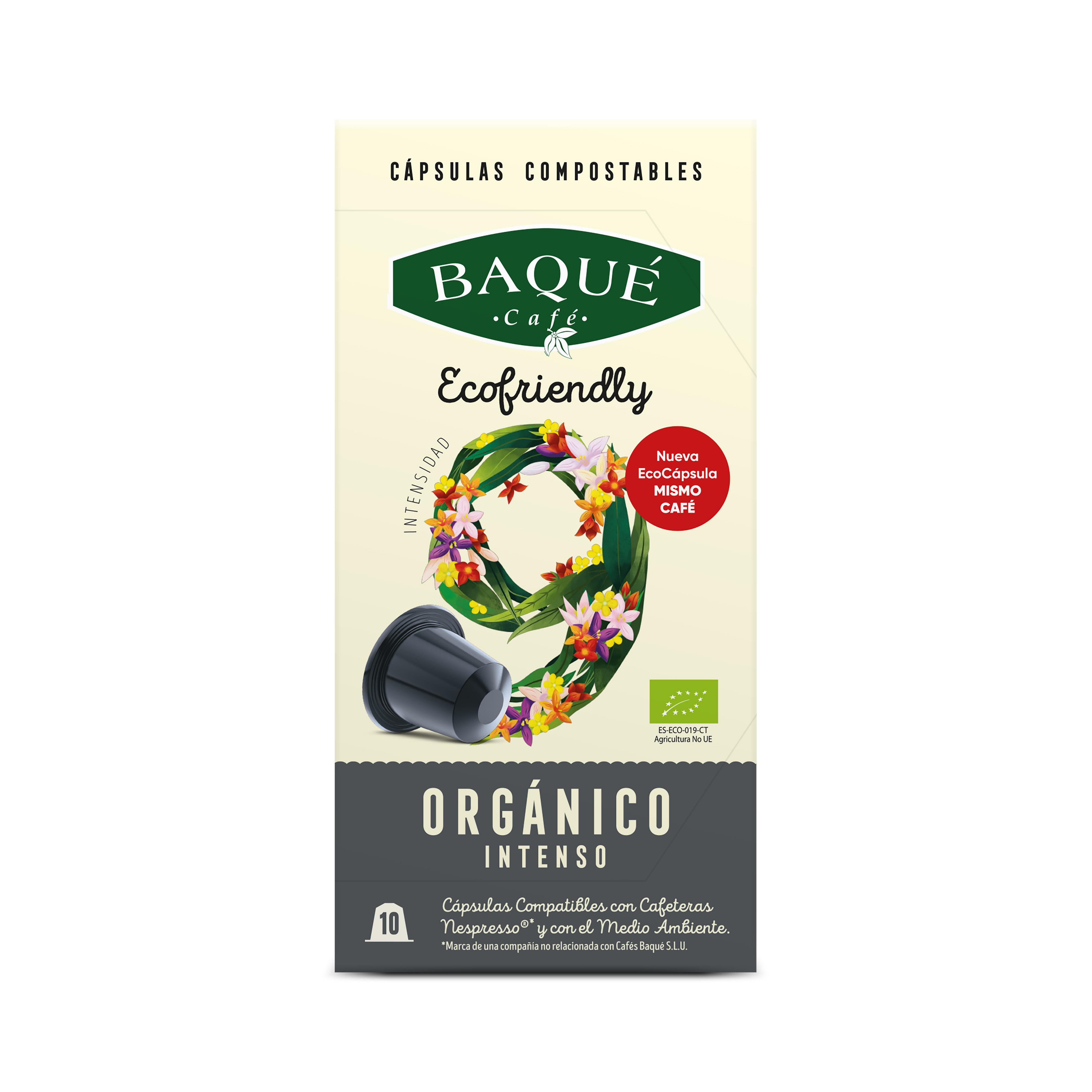 Organiko Bizia 10 kapsula konpostagarri bateragarriak Nespresso®-rekin