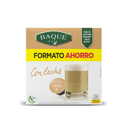 Con leche, 26 cápsulas Dolce Gusto® (formato ahorro)