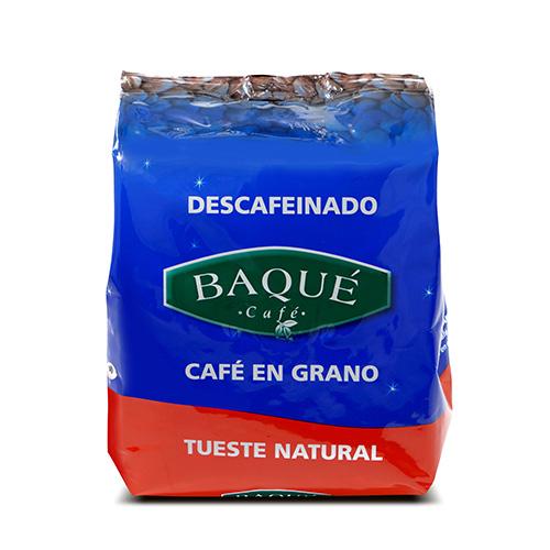 Café en grano Descafeinado, 250 g.