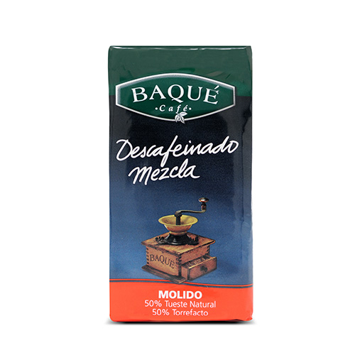 Café molido Descafeinado Mezcla, 250 g.