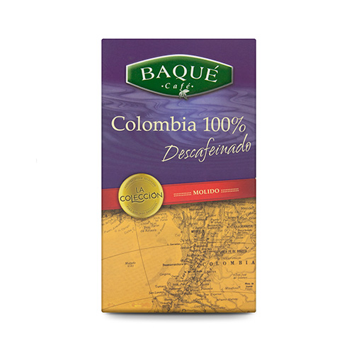 Café molido Colombia Descafeinado, 250 g.