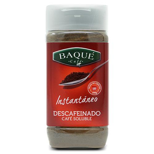 Café soluble Descafeinado, 200 g.