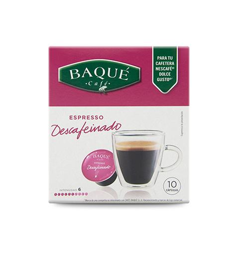 E. Kafeinagabea 10 kapsula bateragarriak DG®-rekin