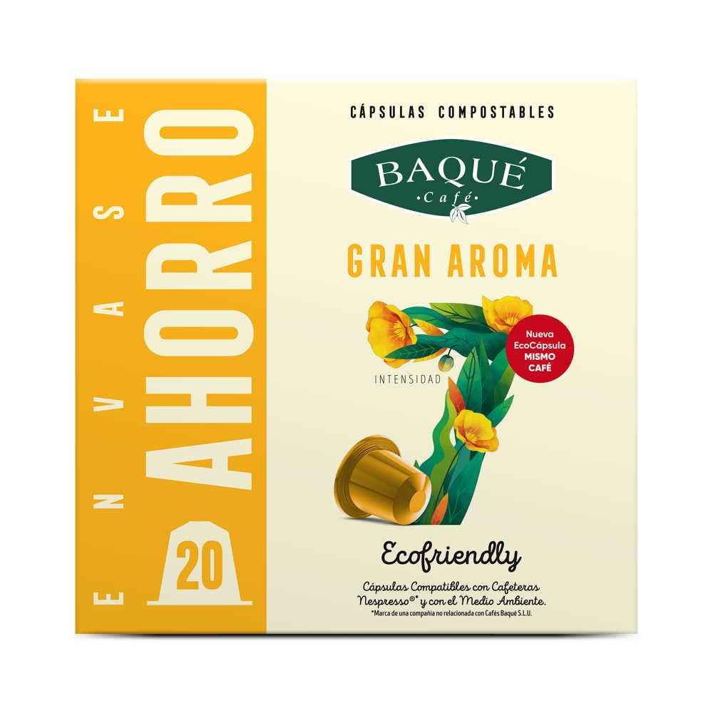 Gran aroma 20 cápsulas compostables compatibles NESPRESSO®