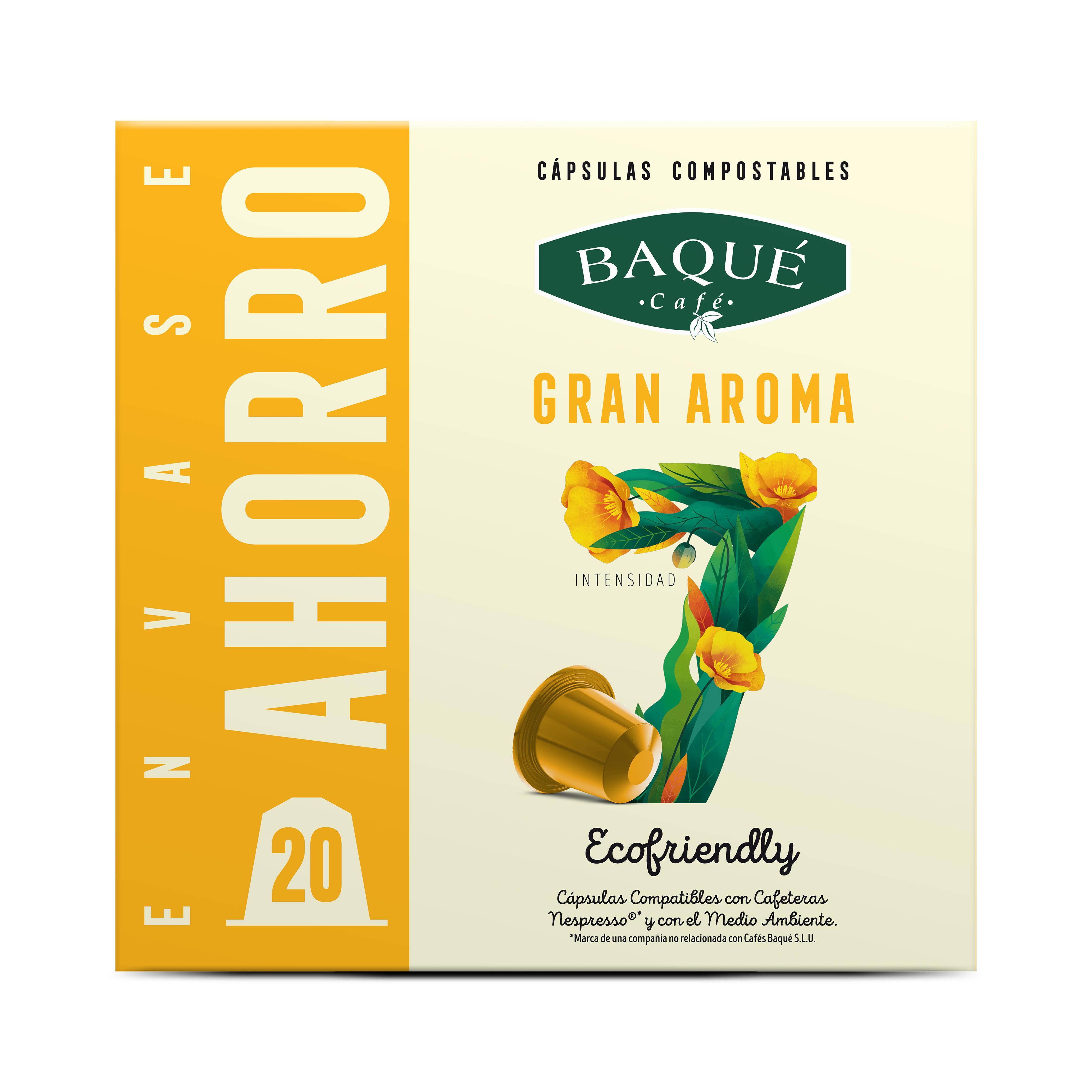 Aroma Handia 20 kapsula Konpostagarri  Nespresso®-rekin bateragarriak