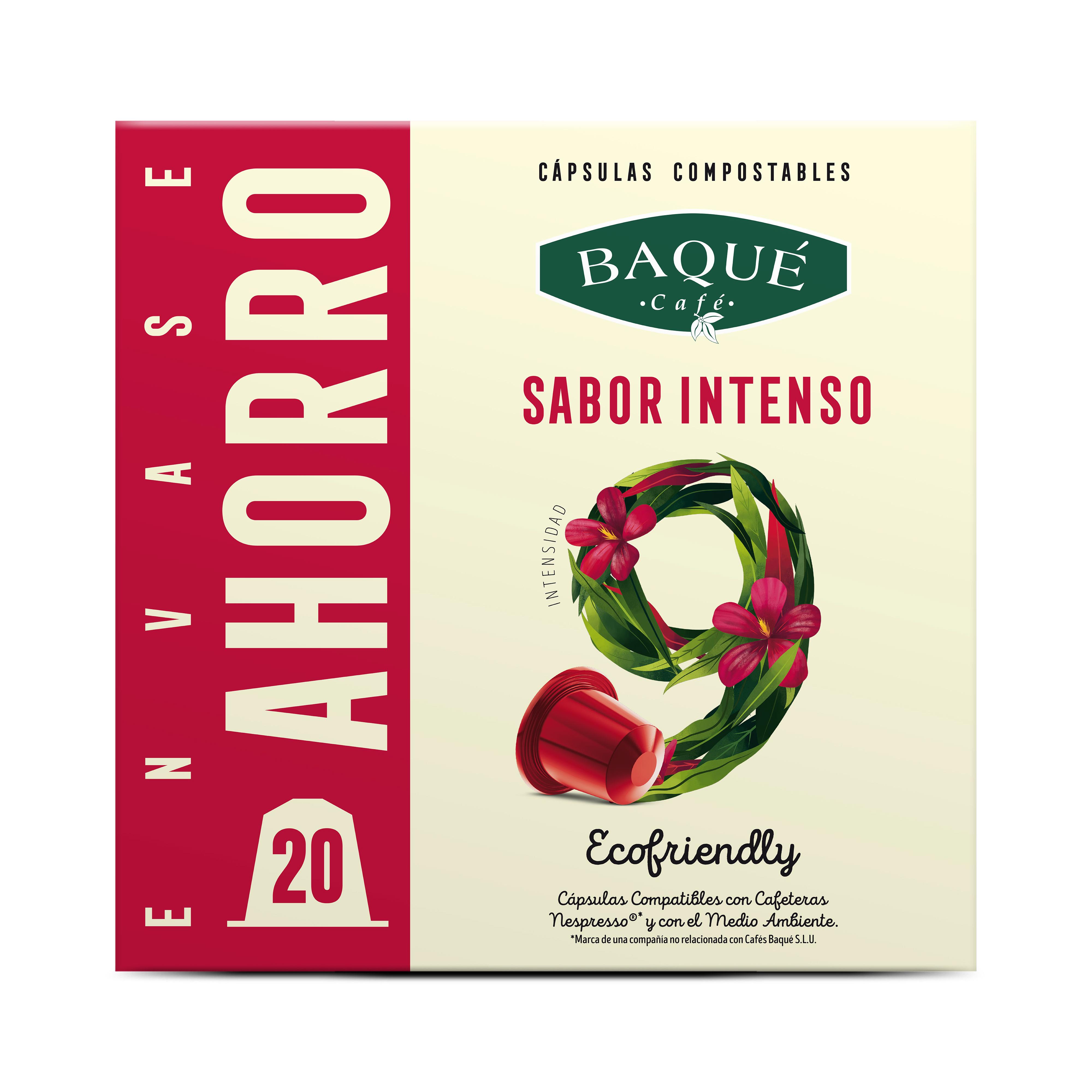 Zapore Bizia 20 kapsula Konpostagarri Nespresso®-rekin bateragarriak