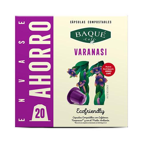 Varanasi 20 cápsulas compostables compatibles NESPRESSO®