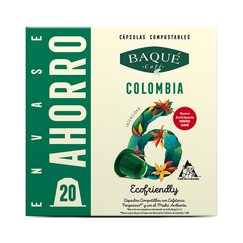 Colombia 20 cápsulas Compostables compatibles Nespresso®