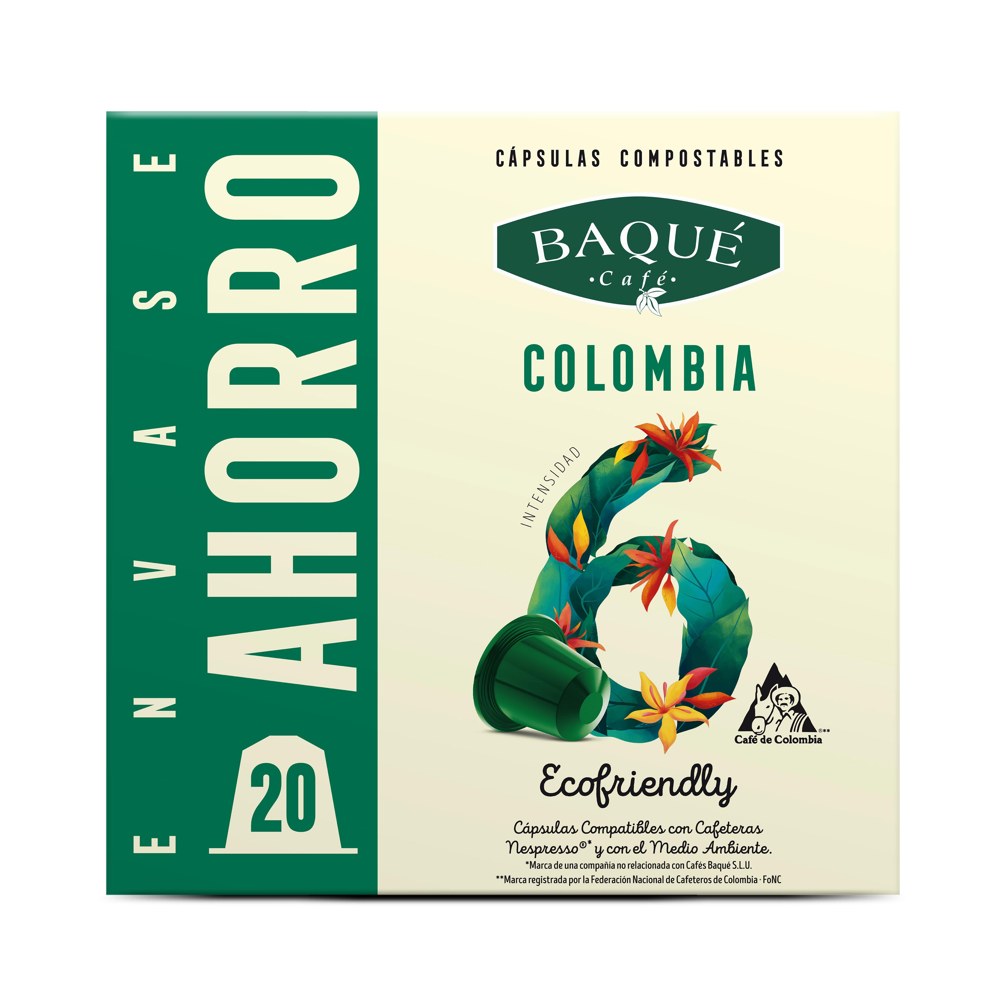 Kolonbia 20 kapsula Konpostagarri Nespresso®-rekin bateragarriak
