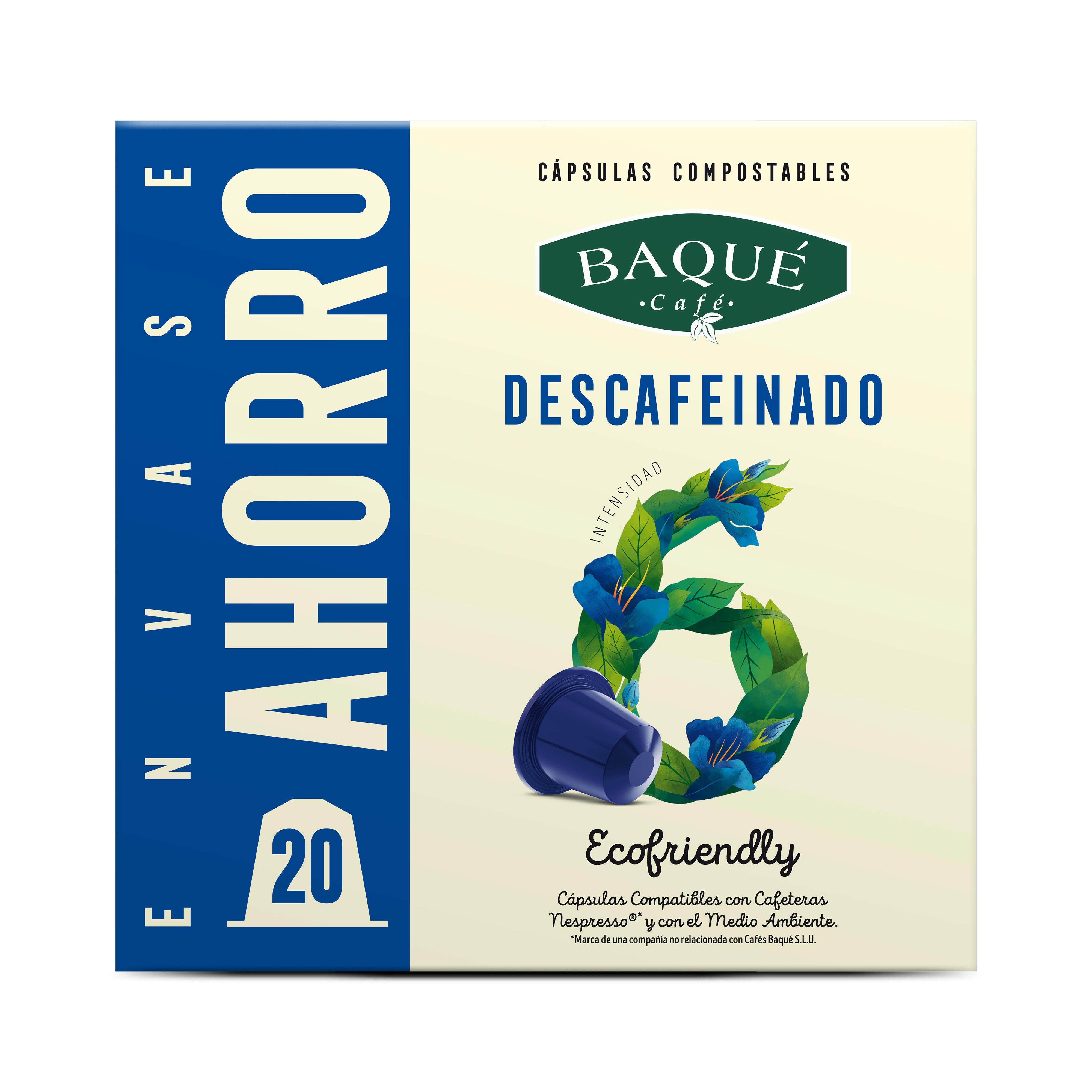 Kafeinagabea  20 kapsula Konpostagarri  Nespresso®-rekin bateragarriak