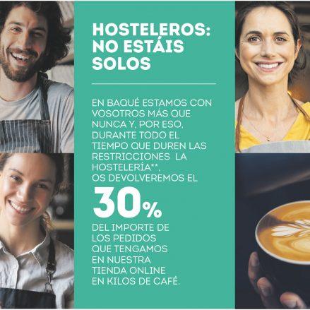 Cafés Baqué, sigue apoyando al sector de la hostelería