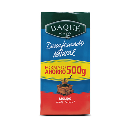 Café molido Descafeinado, 500 g.