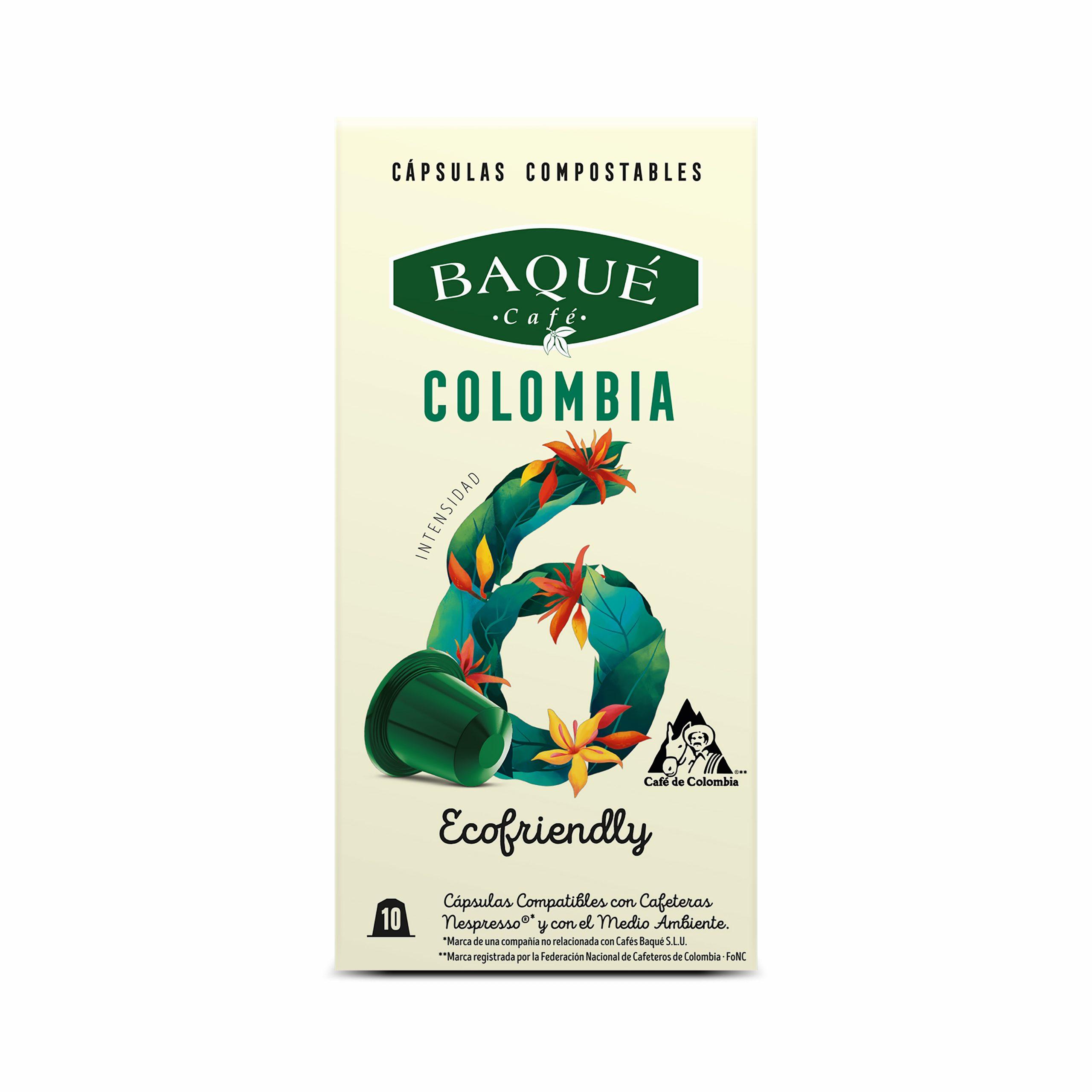 Kolonbia 10 kapsula Konpostagarri Nespresso®-rekin bateragarriak