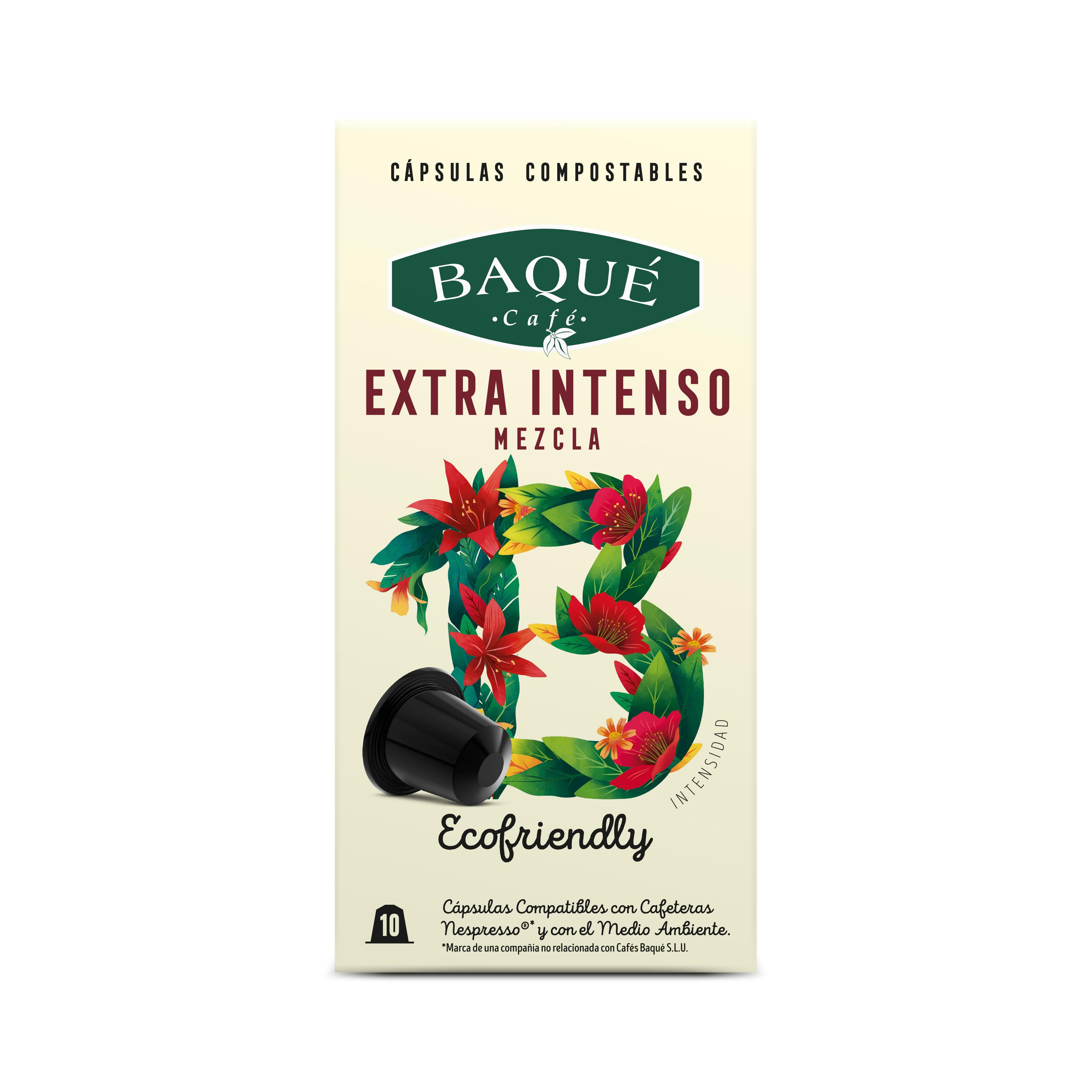 Zapore Estra Bizia 10 kapsula konpostagarri Nespresso®-rekin bateragarriak