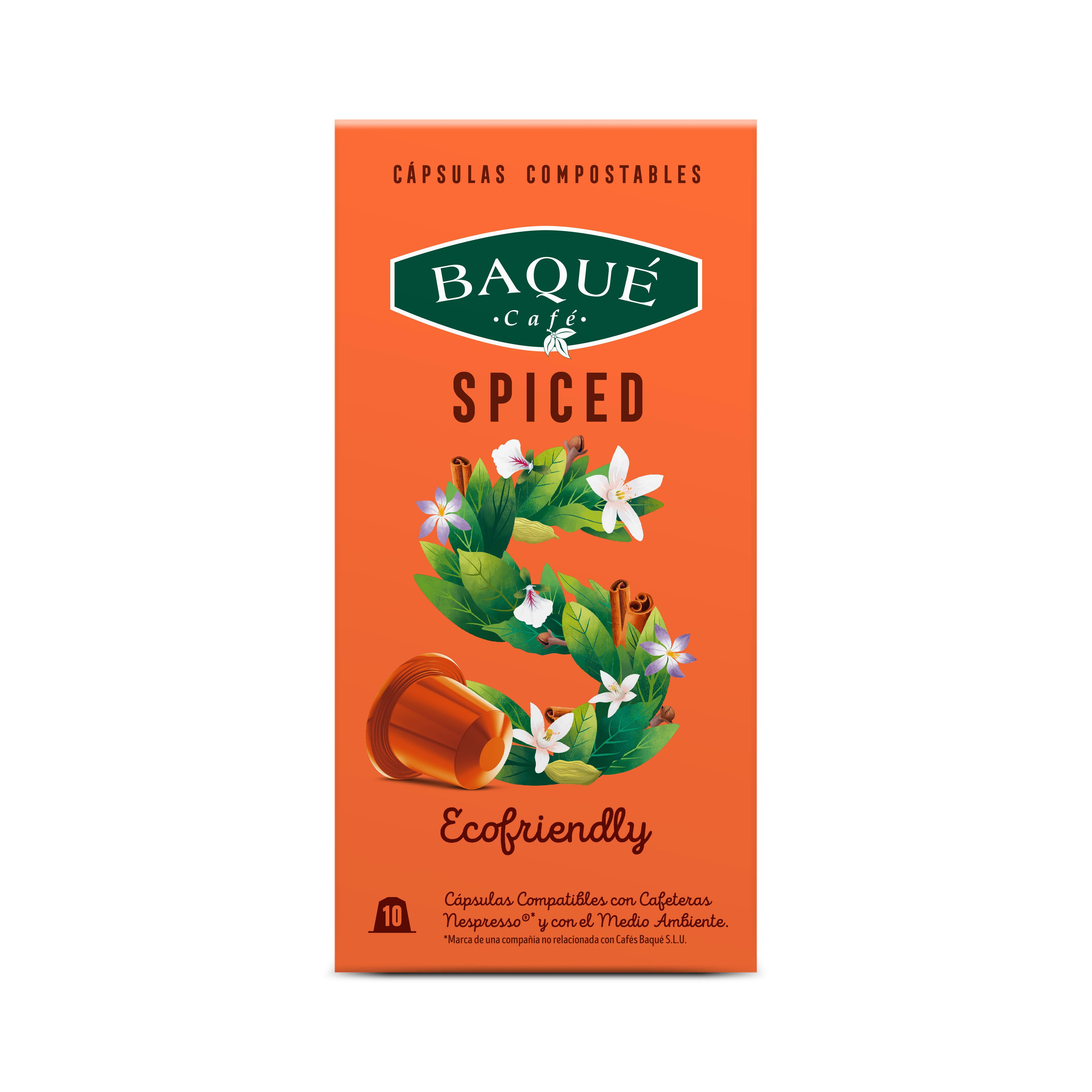 Spiced 10 kapsula konpostagarri Nespresso®-rekin bateragarriak