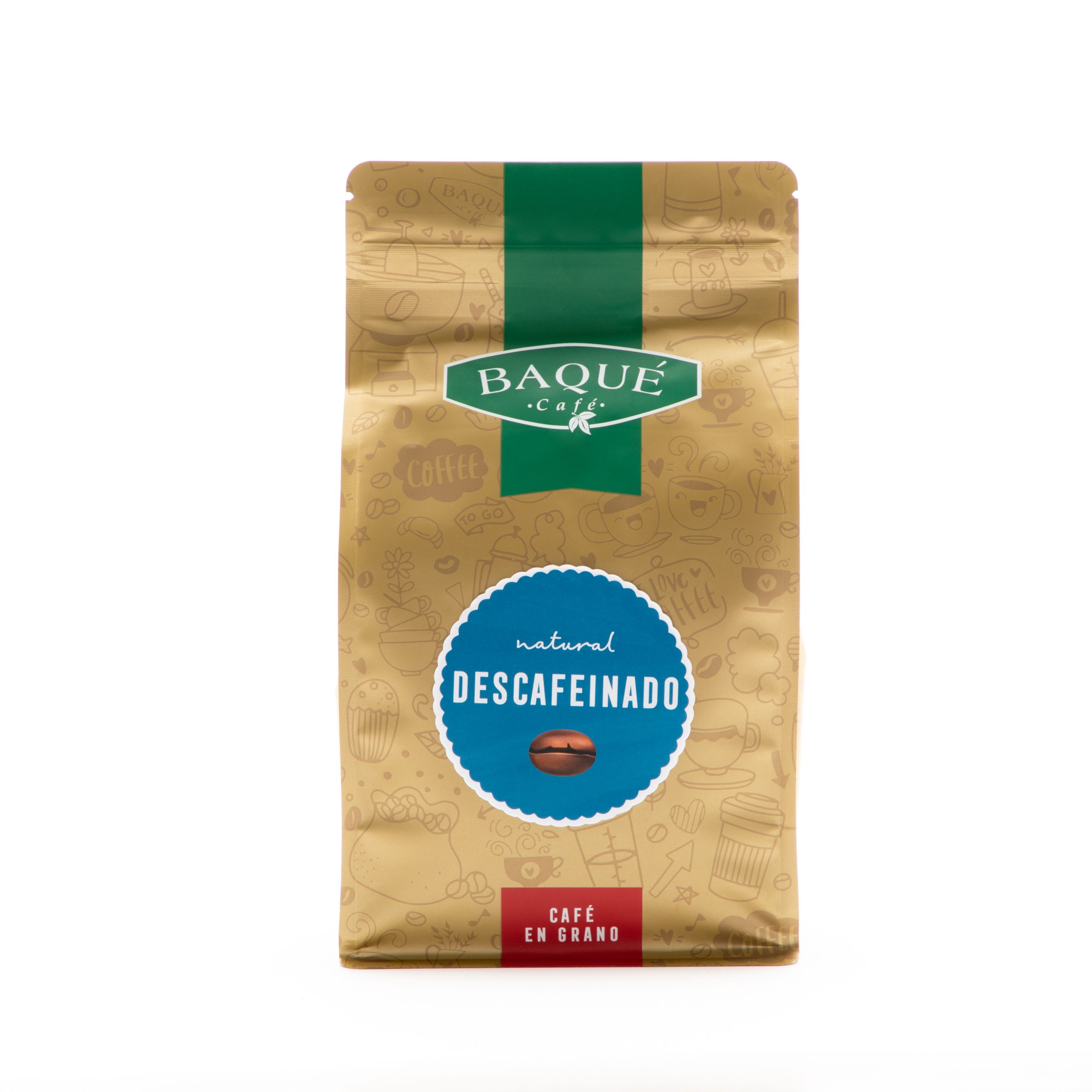 Café en grano Descafeinado, 500 g.