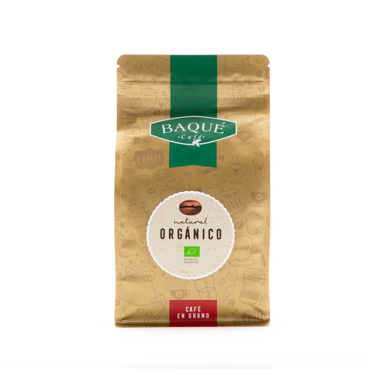Café en grano Orgánico Natural, 500 g.
