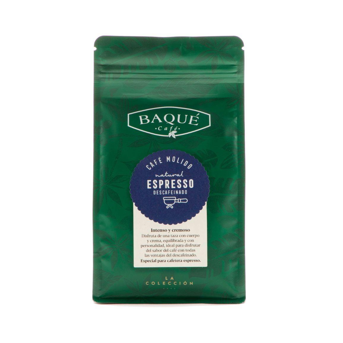 Café molido Espresso Descafeinado, 250 g.
