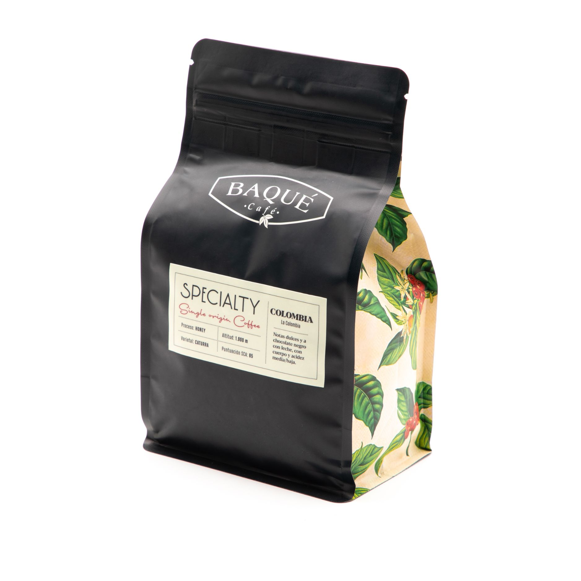 Colombia Specialty Coffee, grano 250g.