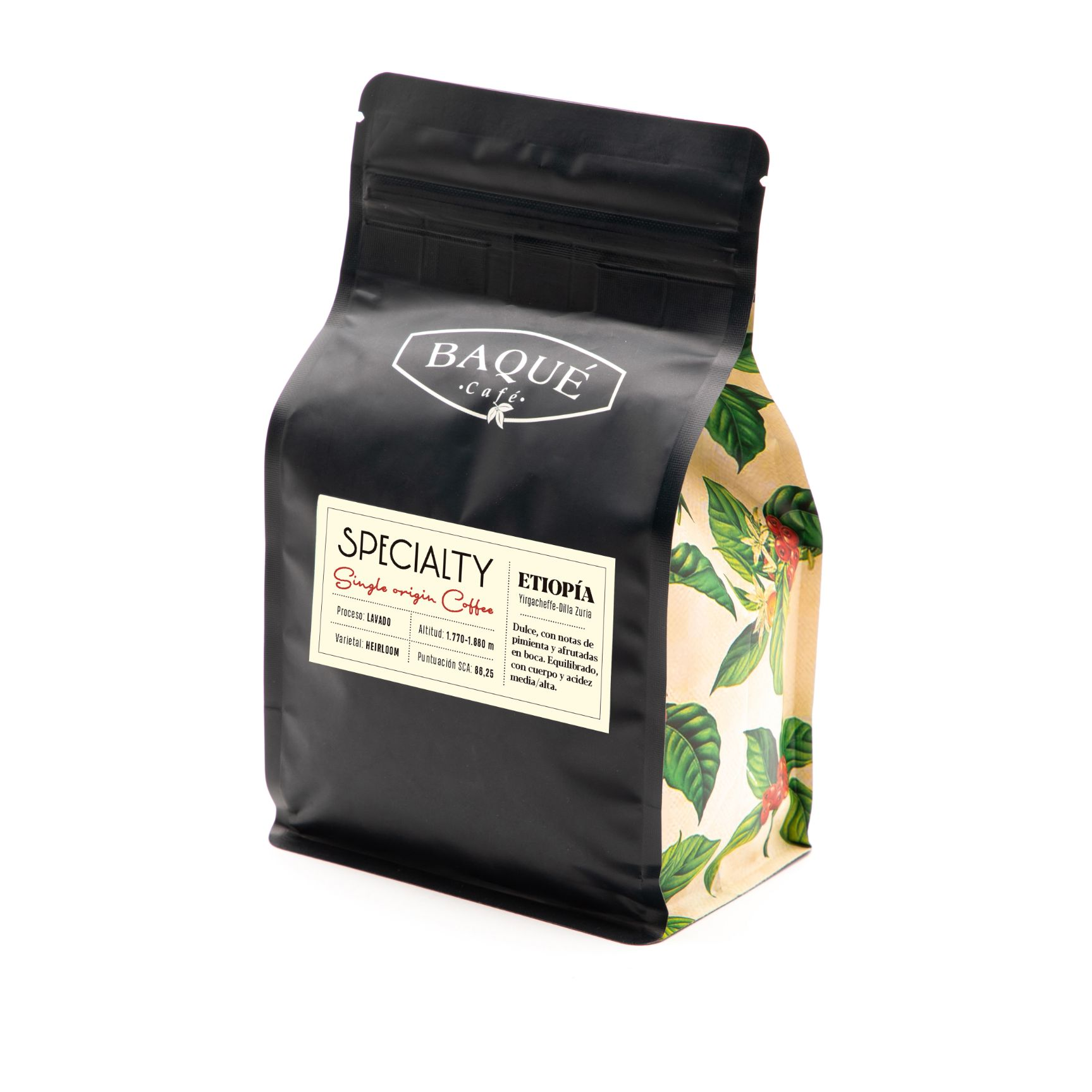 Etiopia Specialty Coffee, grano 250g.